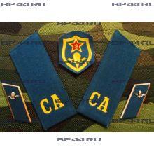 Знаки различия на китель ВДВ СССР (шеврон, погоны, петлицы)